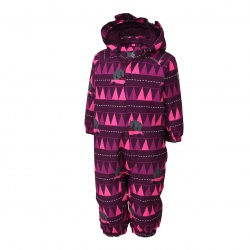 Rimah mini padded coverall AOP vel. 92 4181 (Pickled Beet)